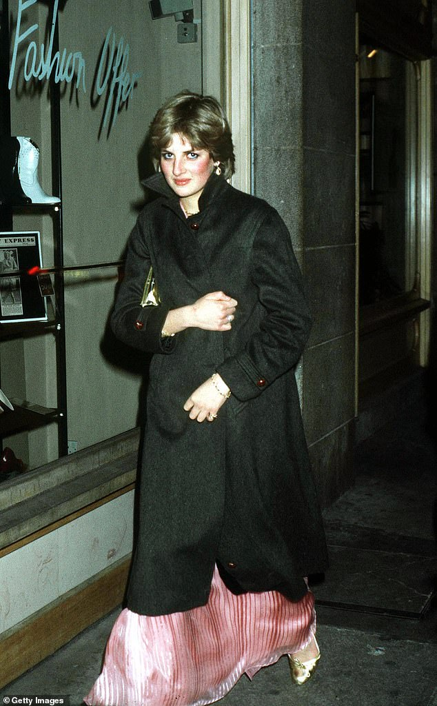 Secret visit: Before embarking on her famous royal tour of Australia in 1983, Princess Diana visited the country alone in February 1981. Pictured in London in November 1980