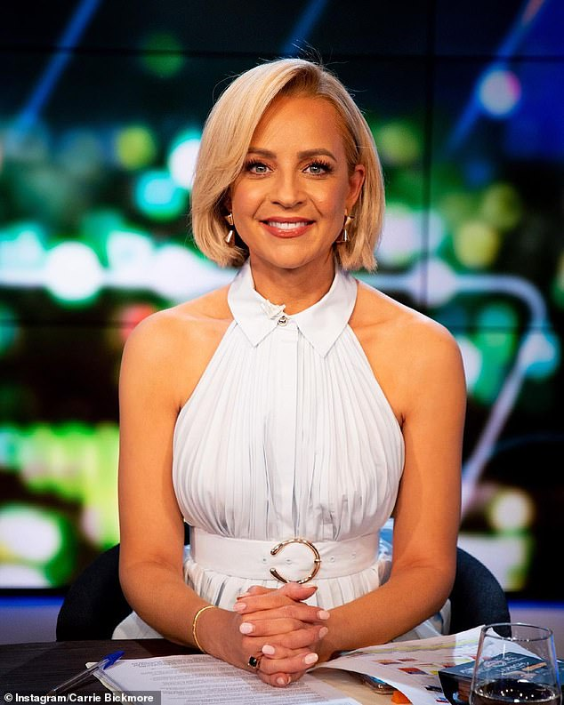 White hot: Carrie Bickmore wowed fans when she shared a photo of herself in a white top with shoulder cut-outs on Instagram on Wednesday