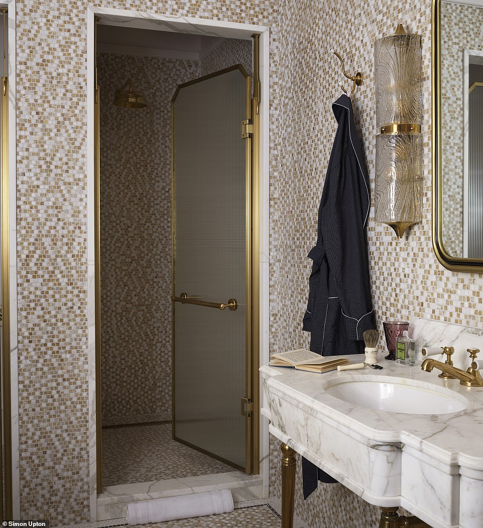 A shot of the 'huge walk-in shower' in the bathroom