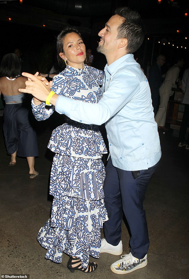 Getting a blast: The duo, who still rocks red-carpet combos, threw a variety of dance moves as they moved across the floor together.