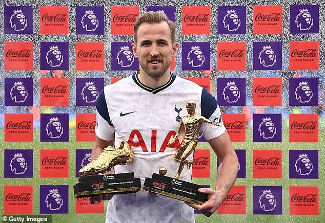 Tottenham striker Harry Kane won the Premier League Golden Boot and Playmaker awards