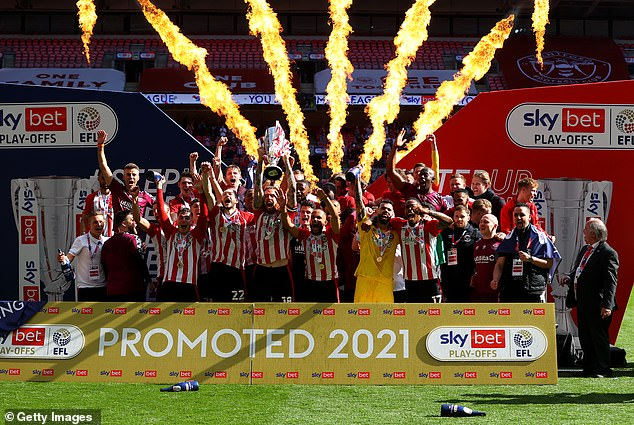 Brentford were promoted to the Premier League with Play-Off victory over Swansea