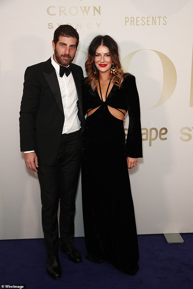 Night out!Fashion designer Camilla Freeman-Topper and husband David Topper (pictured) also dressed to impress
