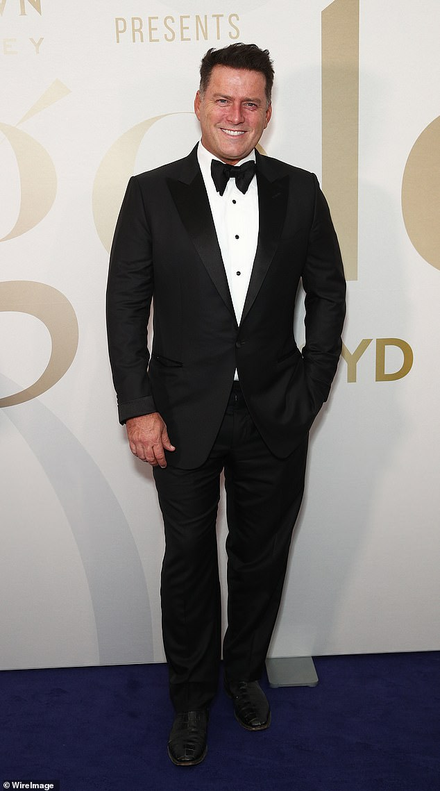 Suave: The Today host looked sharp in his black tuxedo with bow tie