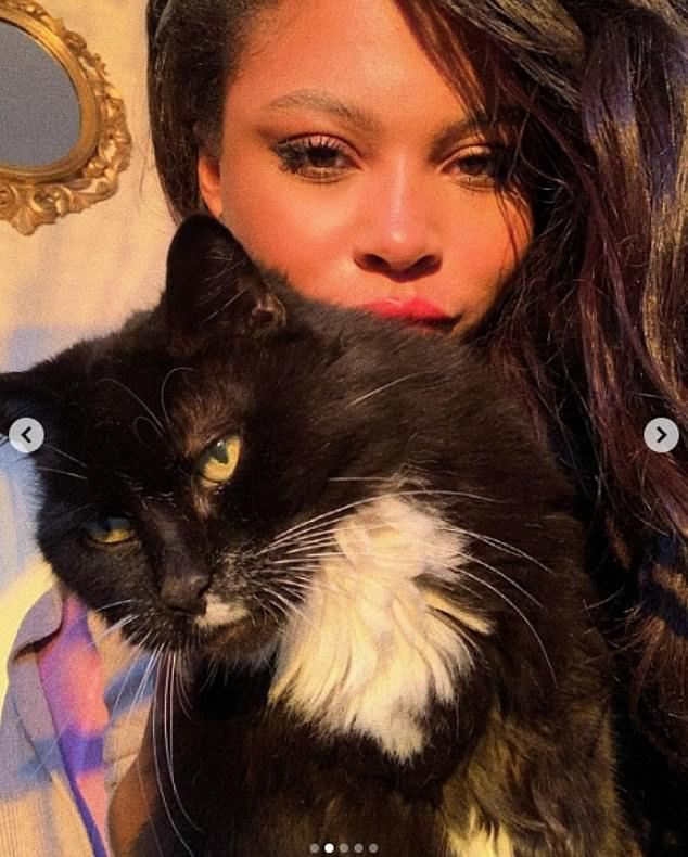 Goodbye my friend: Samira shared her sad news in an Instagram post last Friday, explaining she'd lost the cat who had been part of her life for 16 years