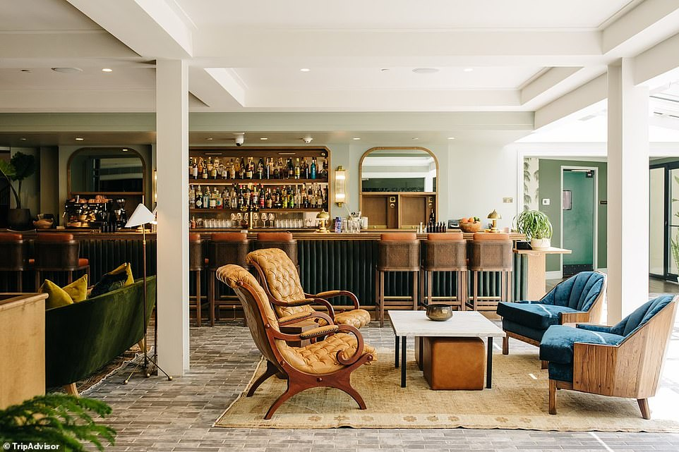 7. EMELINE, CHARLESTON, SOUTH CAROLINA: This four-star property, nestled among the cobblestone streets and brightly coloured row houses in Charleston's historic district, 'provides a warm welcome' for guests, says Tripadvisor. The site adds: 'Emeline is a clever and thoughtfully designed retreat crafted for the curious traveller.' Rooms are described as being 'complemented with contemporary touches'