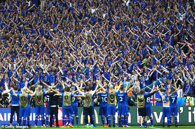 Iceland did the Thunderclap with their fans after dumping England out at the last 16 in 2016
