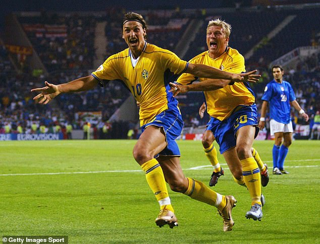 Zlatan Ibrahimovic scored with a backheel volley in Sweden's 1-1 draw with Italy in 2004