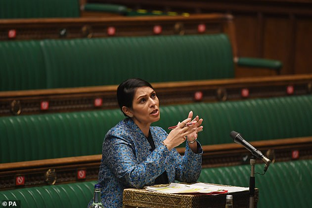 Priti Patel has ordered social media giants including Facebook and Twitter to remove posts that 'glamorise' illegal Channel crossings