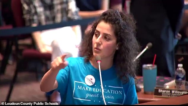 Lilit Vanetsyan, who teaches in neighboring Fairfax County, Virginia, also spoke at the Loudoun County School Board meeting on Wednesday night