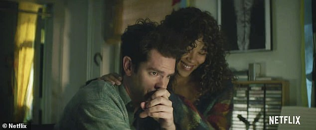 Partner: The trailer skips from Jonathan's dreary work day to treasured nights with his girlfriend Susan (Alexandra Shipp)