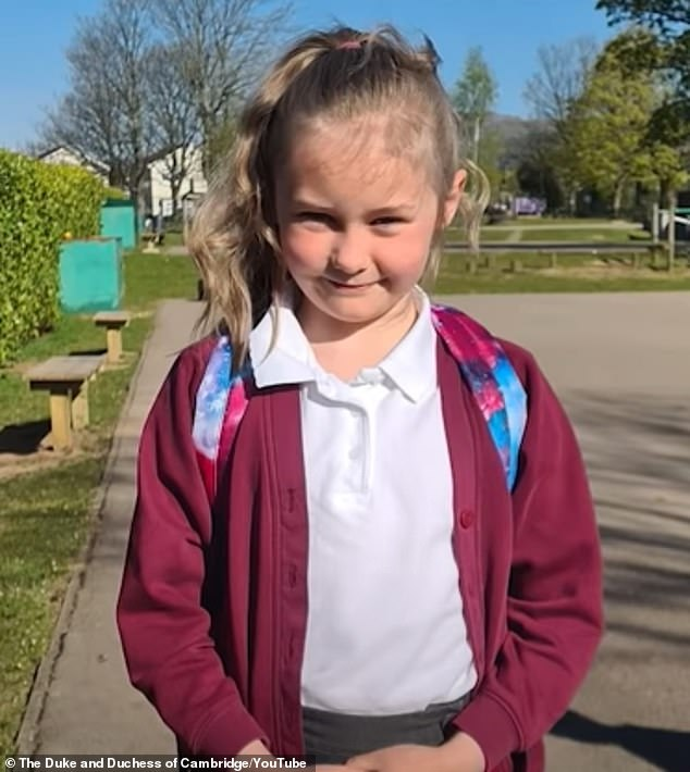 Poppy (pictured) revealed to the Duchess that she was 'very scared' that her father, Mark, who is a paramedic, might catch Covid-19 at work.