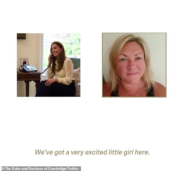 The video of the recorded call included a shot of seemingly casual Kate talking on the phone (left), wearing a sapphire blouse, as well as a shot of Bobby and her mother Siri (right)