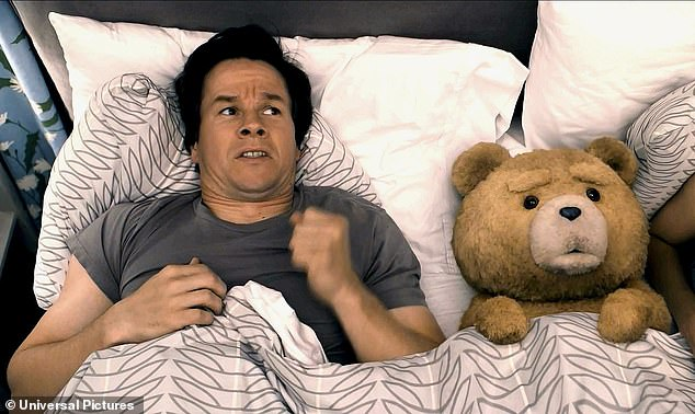 Best pals: The movie follows Wahlberg's lead character John Bennett whose boyhood wish was granted when his teddy bear Ted came to life