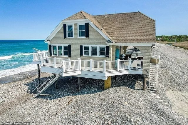 Watch out for high tide! The three-bedroom, two-bathroom house in the east coast town of Scituate has been listed for $929,999, and while it certainly offers immediate beach access, Instagram users insist that it seems a bit too immediate