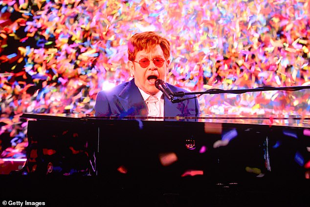 Candid:Sir Elton John has said musicians are facing a 'looming catastrophe' because of post-Brexit travel restrictions on touring in the European Union (pictured last month)