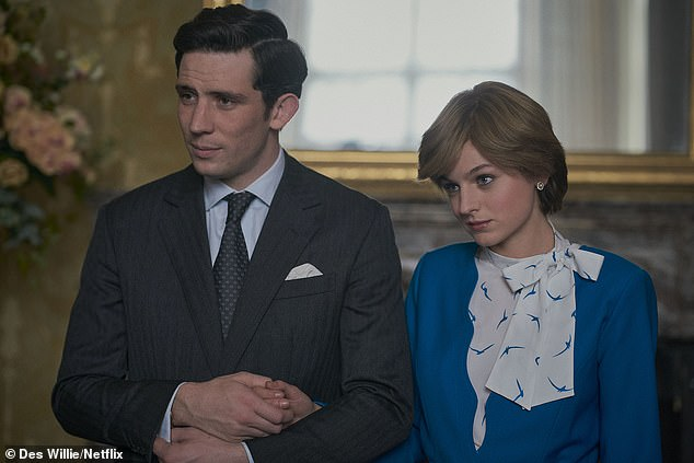Timeline:Prince Harry is due to appear in the fifth series of the hit Netflix show and will be shown from ages 6 to 13, covering the years 1990 to 1997 (Josh O'Connor as Prince Charles and Emma Corrin as Princess Diana in The Crown)