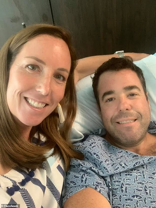 Anne Worrell, the wife of a jogger who was shot in Buckhead, posted a selfie of herself with her husband in the hospital after he was shot