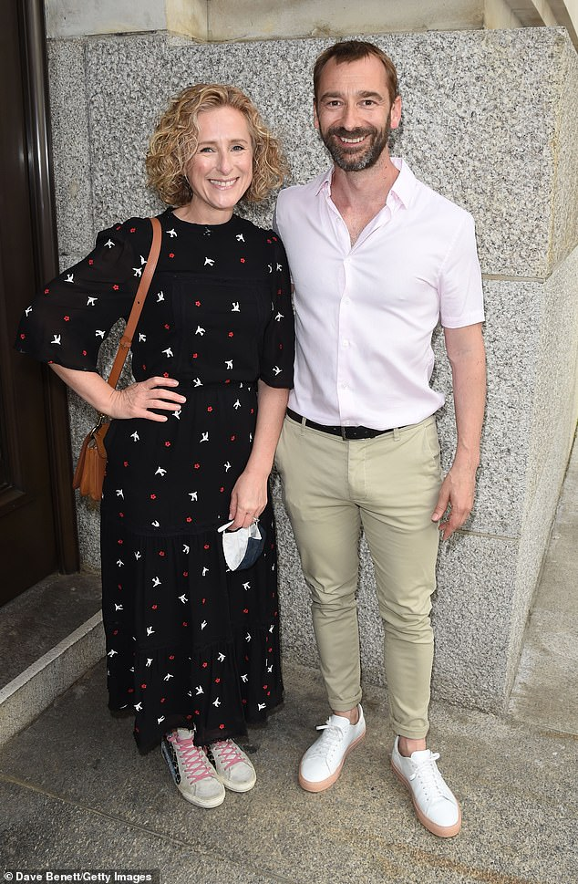 Good pals: Actress Nicola Stephenson showcases her quirky sense of style as she attended the gala night with former Coronation Street star Charlie Condou