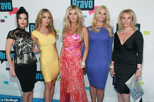 The first casting: Adriana de Moura, Lisa Hochstein, Joanna Krupa, Alexia Echevarria and Lea Black of The Real Housewives of Miami attend the Bravo Upfront 2013