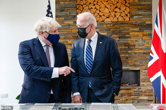 Boris Johnson and Joe Biden yesterday agreed a new grandiose 'Atlantic Charter' setting out their joint vision for the world's recovery from the coronavirus crisis and future prosperity