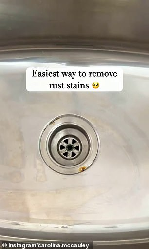 Carolina, from Perth, shared a video online and removed a stain from the sink using only one product ¿ white vinegar
