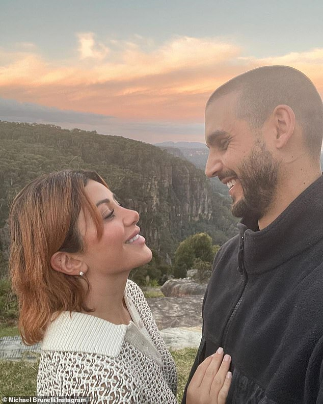 Romantic getaway: The couple had just landed in Sydney after a flight from Cairns, Queensland, after spending a few days in idyllic Port Douglas for Martha's birthday