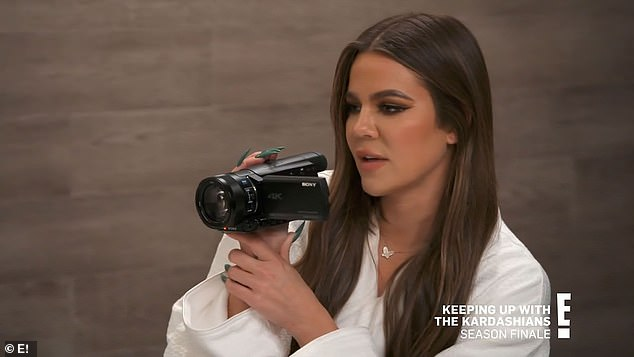 Emotional: Younger Kardashian sister Khloe also had some moving things to say about the show, which saw her genuinely grow up to be the mother and 36-year-old woman she's become