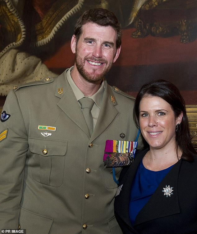 Roberts-Smith took part in a hair-raising mission that took place on June 1 and 2, 2006 on a mountain range called Korangal, south of Chora, and in the valley below. He is pictured with ex-wife Emma