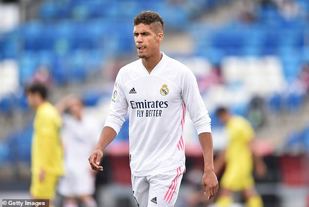 Real Madrid 'are willing to sell defender Raphael Varane for £52million this summer' with Manchester United linked with the France international