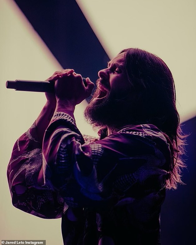 Show business pro:Jared has also been working on his bandThirty Seconds to Mars' upcoming August music festival Mars Island