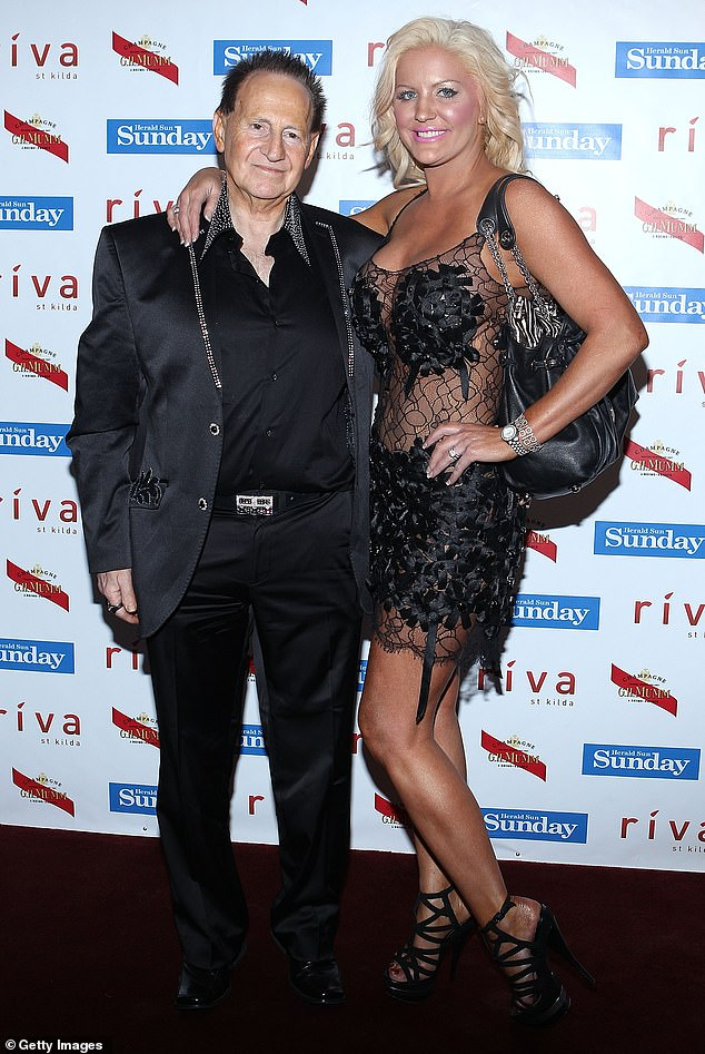 The loves of Geoffrey's life: A look back the headline grabbing women who fell head over heels for controversial businessman Edelsten after he died at age 78 on Friday. Pictured is Geoffrey with his second wife Brynne