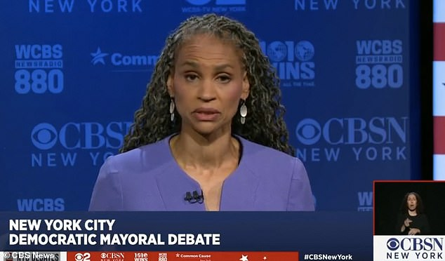 During Thursday's debate among the top five Democrat mayoral candidates, Wiley was pushed on the issue of arming cops