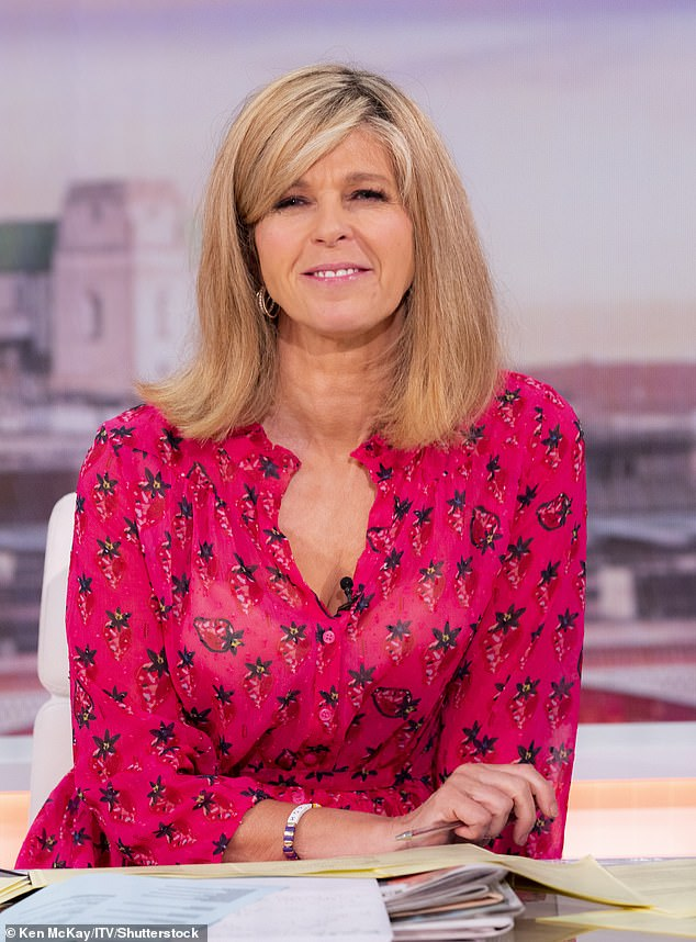 Chic: The host, 54, appeared on the breakfast show alongside Ben Shephard, but was dismayed when a technical glitch occurred and she forgot a guest's name