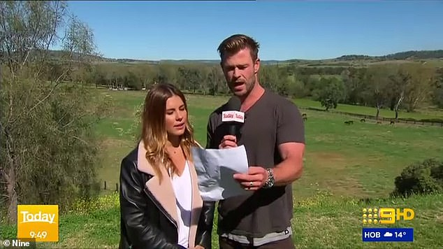 If the acting career doesn't pan out: The Thor star read her weather report live on air, and afterwards she joked the A-list star gave her a run for her money and take her job