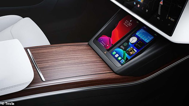 It also comes with an additional 8-inch rear display for passengers and front and rear charging ports