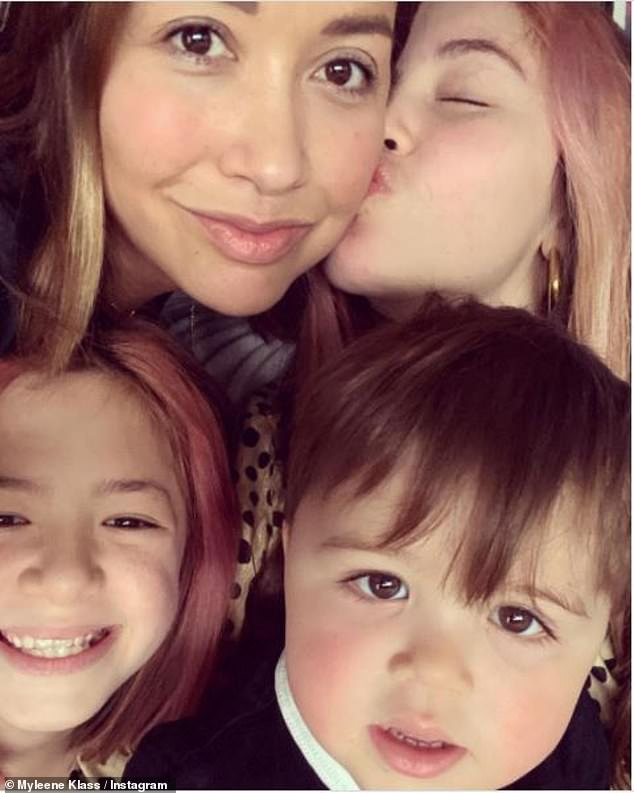 Family: Speaking about the documentary, Myleene, who has daughters Ava, 13, Hero, 10 and 'rainbow' son Apollo, 2 months, she said: 'It can't go on being the big dark secret that we have to carry around'