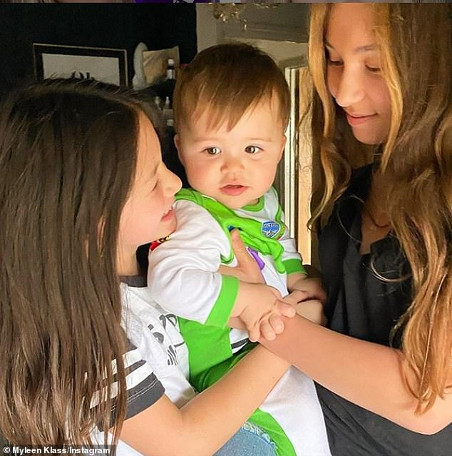 Gorgeous family: Alongside Apollo, Myleene is proud mum to Ava, 13, Hero, 10, whom she shares with her ex-husband Graham Quinn