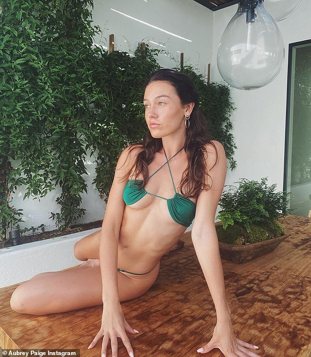 Stunning: Despite the 23-year age gap, Ryan is now dating promising model Aubrey (seen above in a bikini on his Instagram)