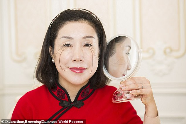You Jianzia, from the southern city of Changzhou, had originally set the Guinness World Record in 2016 when her eyelash measured 4.88 inches (12.5 cm)