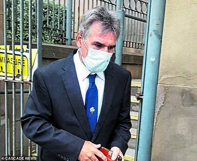 Hugh Vinning, pictured, threw petrol over his neighbour's son after he blocked