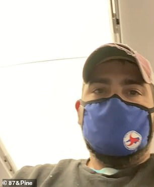 He said the plane only had water and cookies during their stop in Raleigh