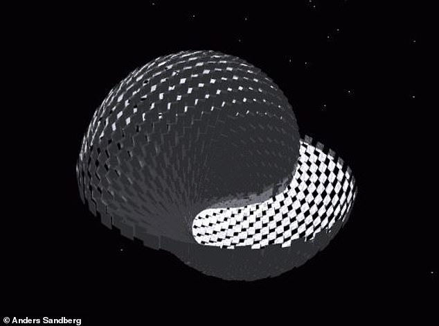 As the number of collectors grows, they are gathered into bands, limit shading and ultimately become the Dyson sphere, an idea first proposed in the 1960s