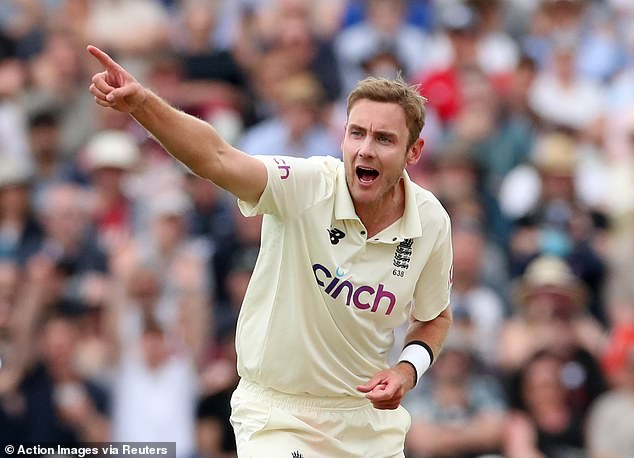 Stuart Broad drew clear of West Indian great Courtney Walsh by dismissing Devon Conway