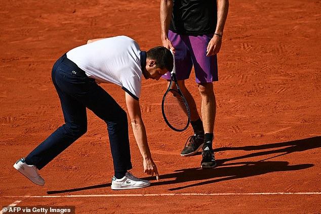 Renaud Lichtenstein felt the call came after Zverev had hit Stefanos Tsitsipas' shot into the net