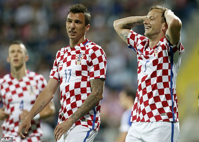 Stalwarts Mario Mandzukic (middle) and Ivan Rakitic (right) retired after the 2018 World Cup