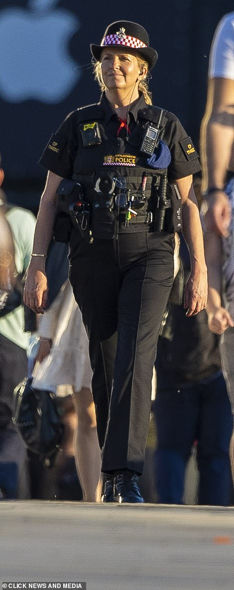 Put in the hours:Penny revealed in April that she had become a qualified police officer after training for City Of London Police on one weeknight every week and from 9am to 5pm on Saturday and Sunday every other weekend