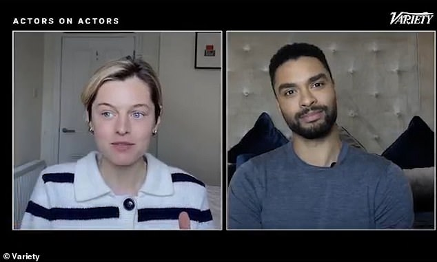 Chat:The actress, 25, who played the Princess Of Wales in the series joined the Bridgerton actor, 31, over a video call where they reflected on their meteoric rise to fame