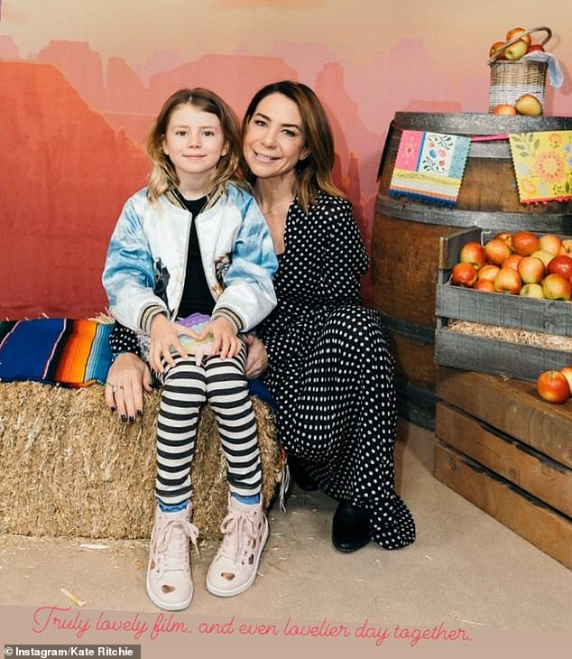 Bonding: Kate and Mae recently enjoyed a mother-daughter date at the movies to watch the animated film, Spirit Untamed. She shared a photo of them posing in front of the film's official poster with the caption: 'Truly lovely film... and even lovelier day together'
