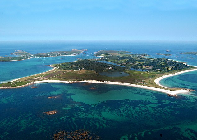 A two-and-a-half-hour ferry ride from Penzance takes you to a natural paradise, featuring more than 20,000 exotic plants. Pictured:Tresco Island resort on the Isles of Scilly
